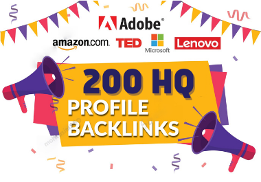 I will do Manually 200 High-Quality Profile Backlinks or Profile Creation for SEO Ranking