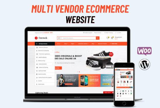 I will build a multi vendor ecommerce wordpress website for multi vendor marketplace