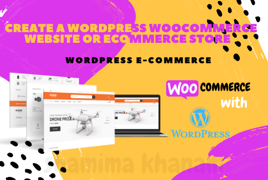 I will create a responsive wordpress woocommerce website or ecommerce store