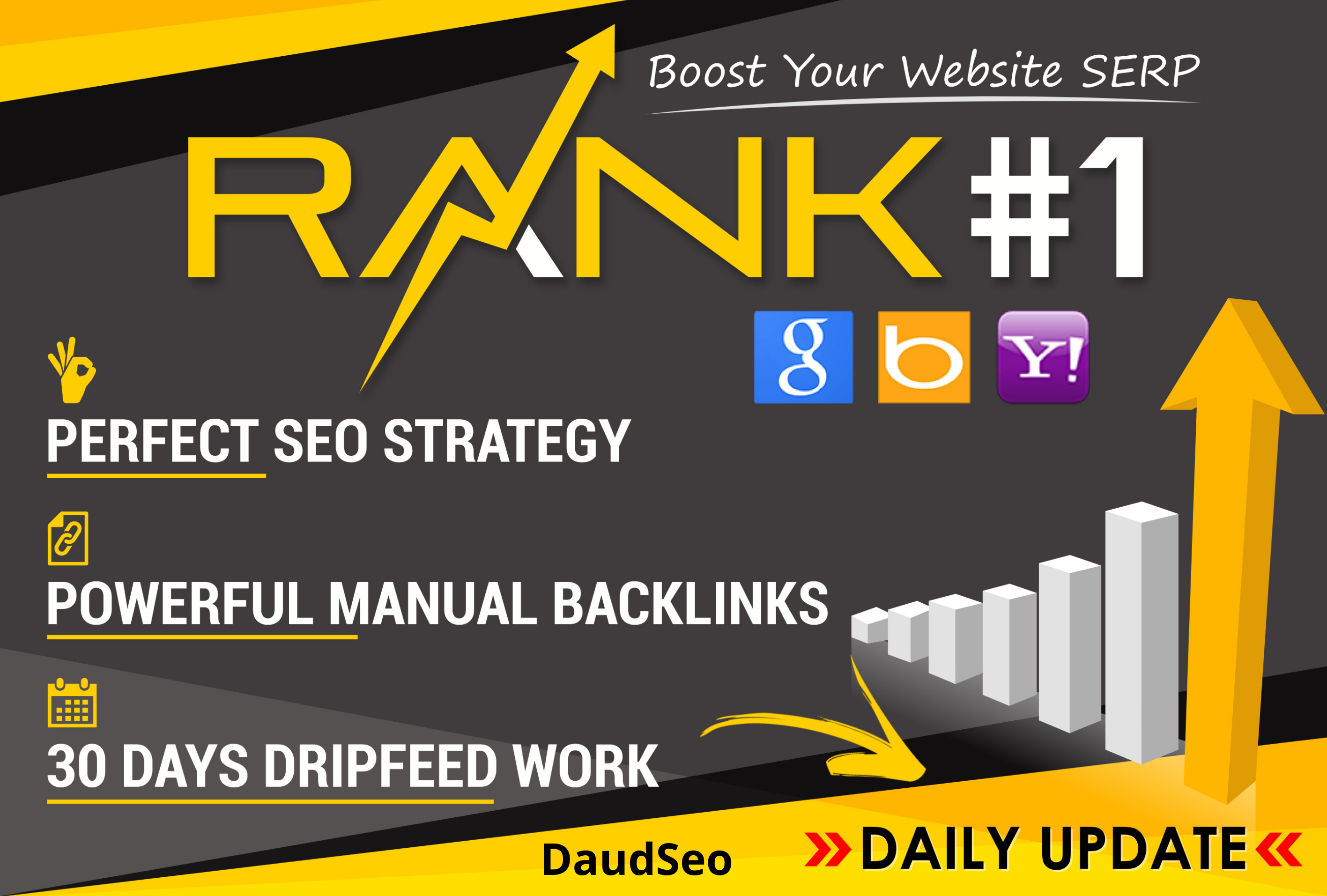 Rank your website My 30 day daily Backlinks,  Monthly SEO Service,  Profile backlinks,  Guest Post etc