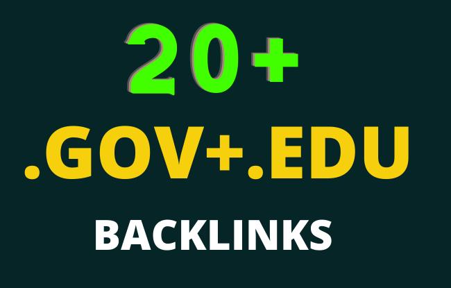20 Edu/Gov Seo Backlinks High Authority website,  Profile Backlinks,  Blog comment etc