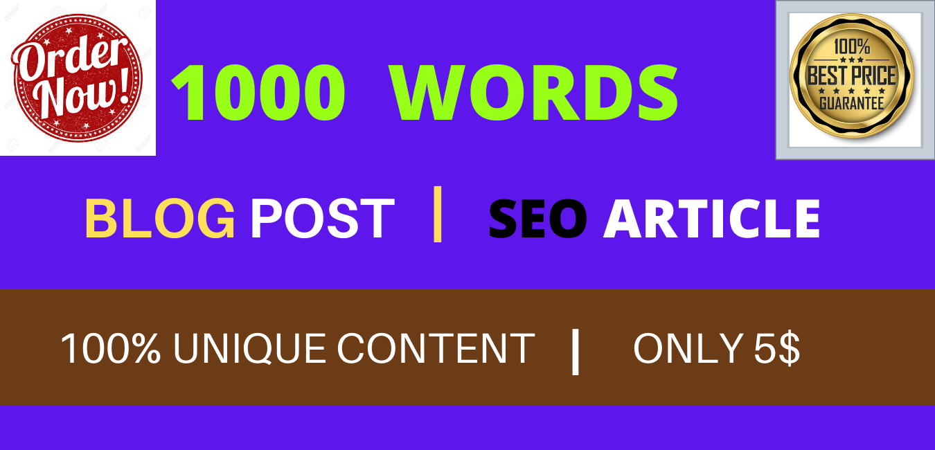 I will write 1000 words blog or SEO Friendly High Quality article