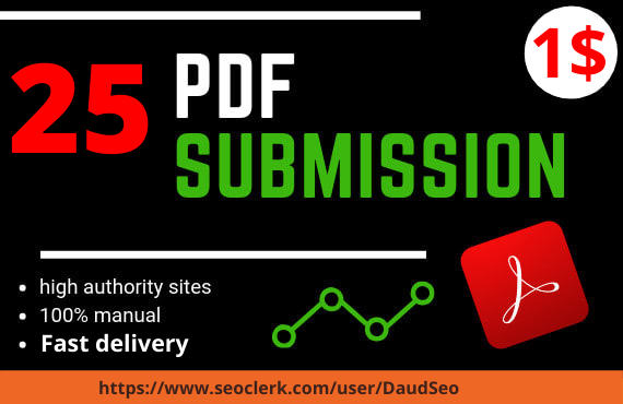 I will do 25 manual PDF submission on top document sharing sites