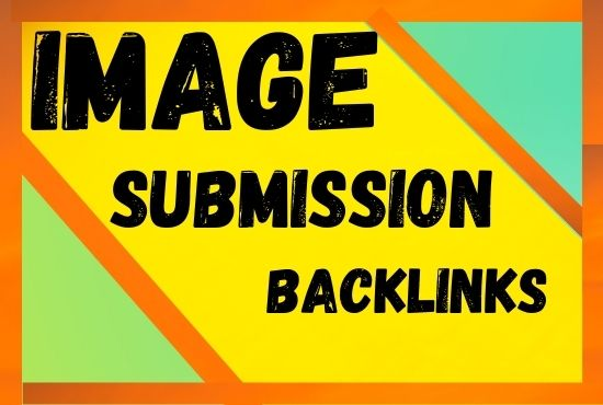 I will make 100 image submission backlinks on high-quality sites manually
