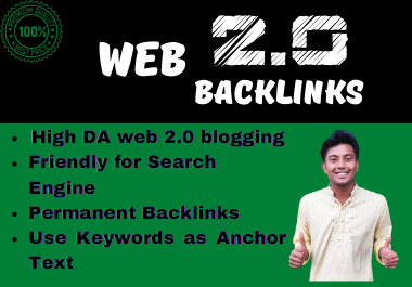 I will create High DA WEB 2. 0 Backlinks For Google Ranking