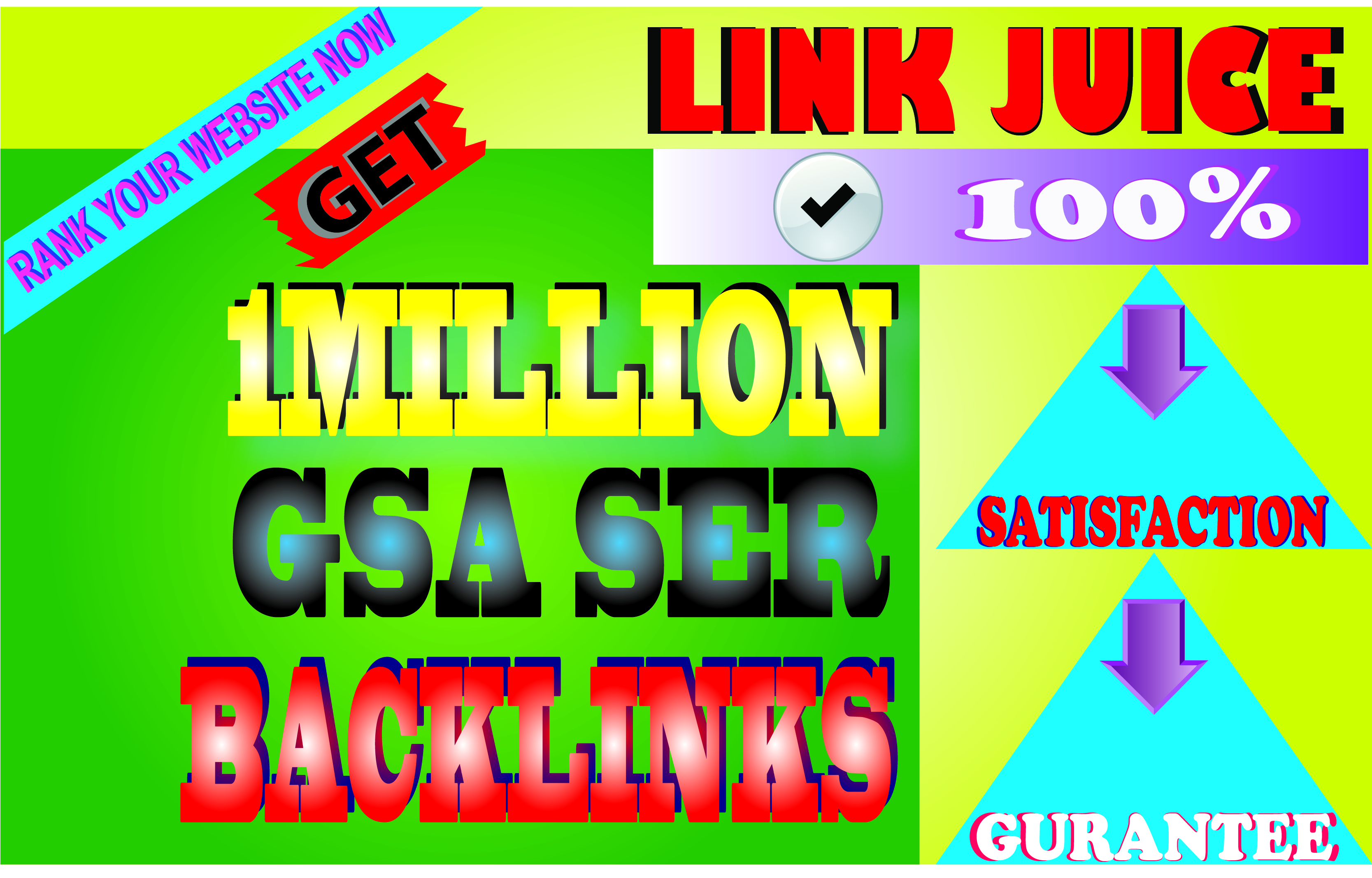 I will create 1 million gsa backlinks for increasing link juice