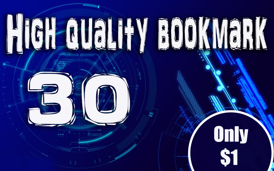 High quality 30 bookmark backlinks post