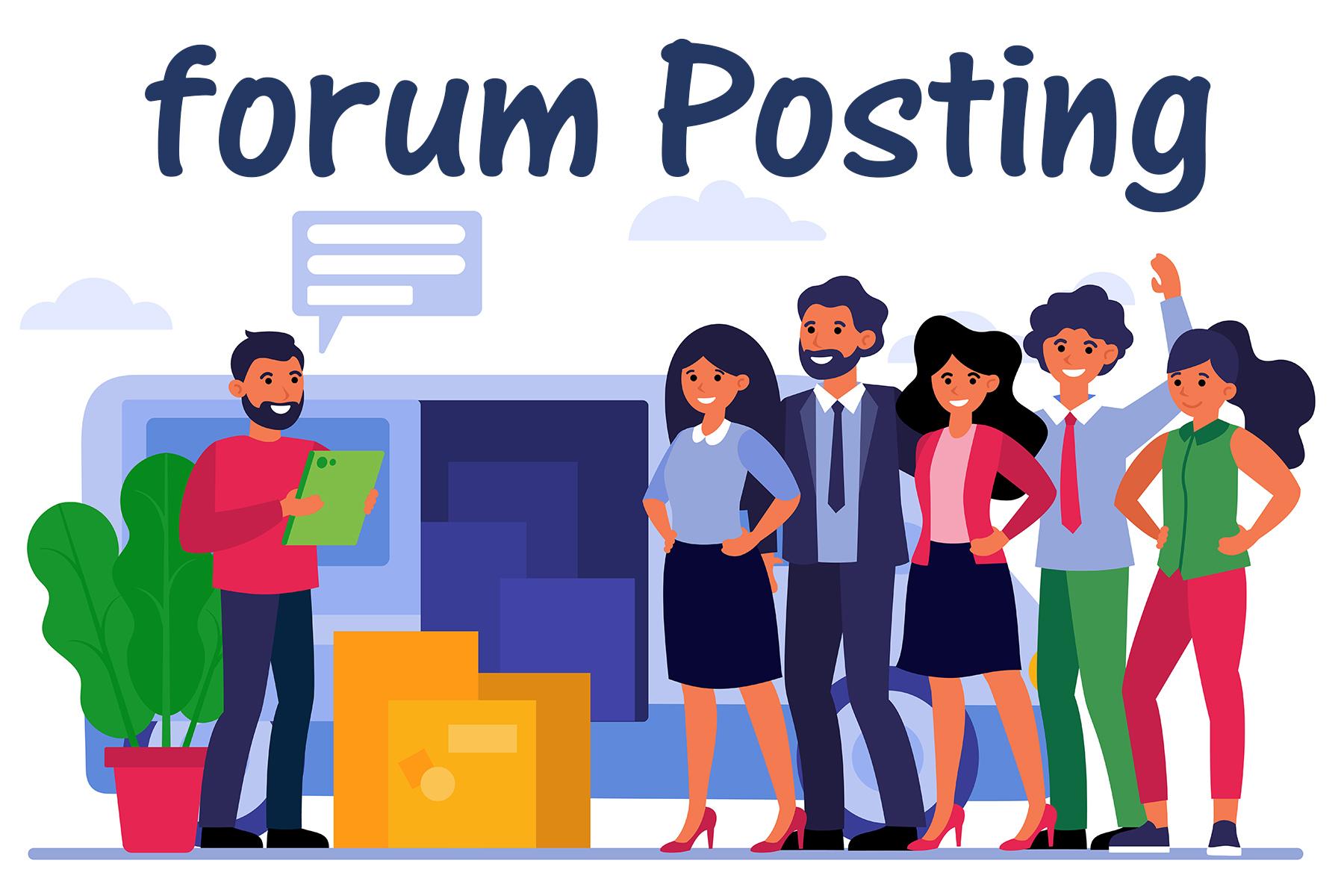 provide 100 forum Posting backlinks