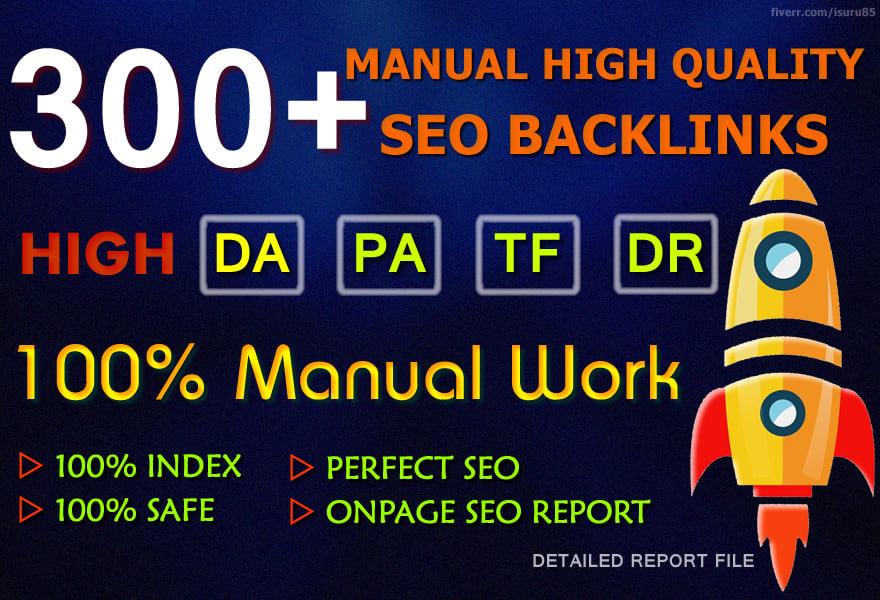 do 300 manual high domain authority SEO profile backlinks