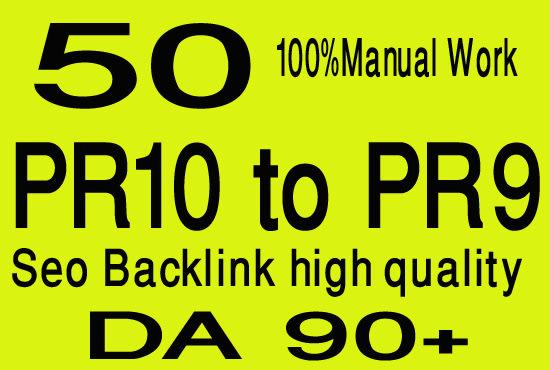 I will Create 50 pr10 to pr7 high quality seo dofollow backlinks