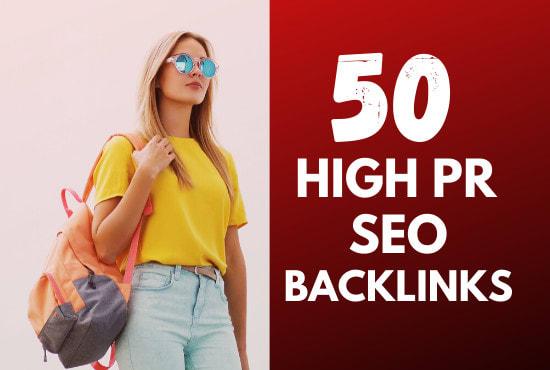 do 50 high pr dofollow USA seo backlinks for link building