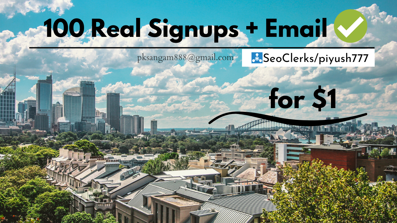 Manually 10+ Signups with Email Confirmation
