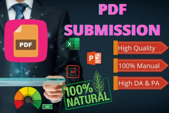 Build Manually 80 High Authority DA PA PDF Submission Manually