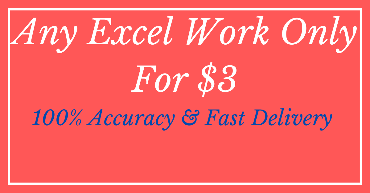 We will be your Microsoft excel spreadsheet expert
