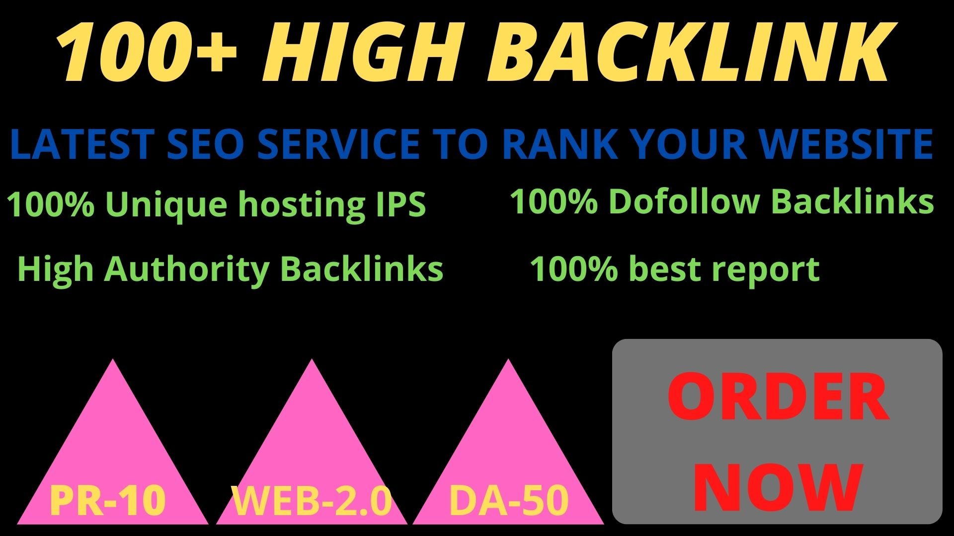 Get powerful 100+ pbn backlinks with high DA /PA on your homepage.