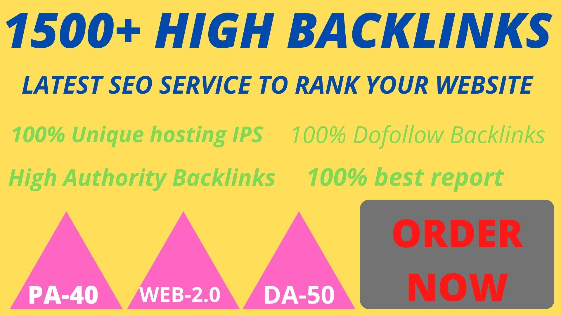 Manually Create 1500+ DOFOLLOW High Authorized Google Dominating Backlinks