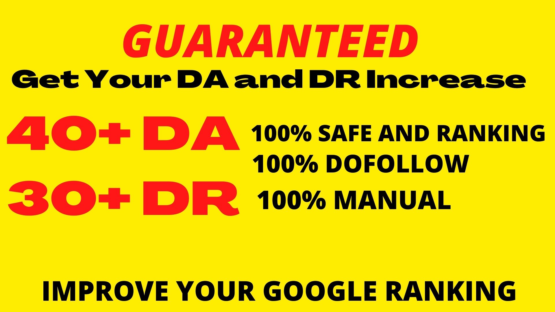 Manually Create 30+DOFOLLOW High PR 1-PR 7+ or DA-40+Highly Authorized Google Dominating Backlinks
