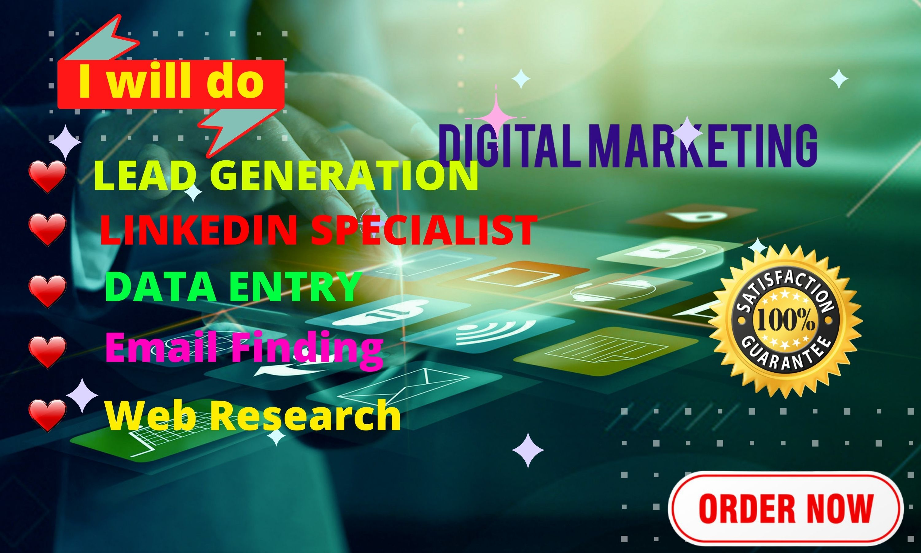 be your virtual assistant for data entry,  copy paste and b2b lead generation