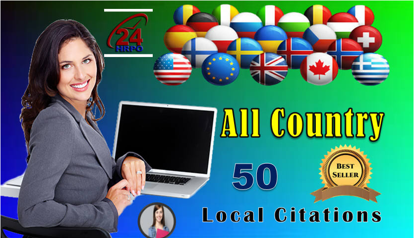 I will do 30 local listings for USA, au, UK, ca,  and other all countries