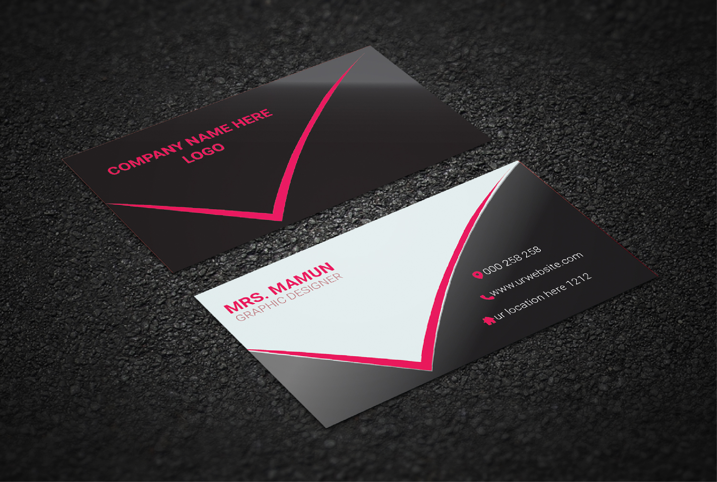 I will create creative business card design