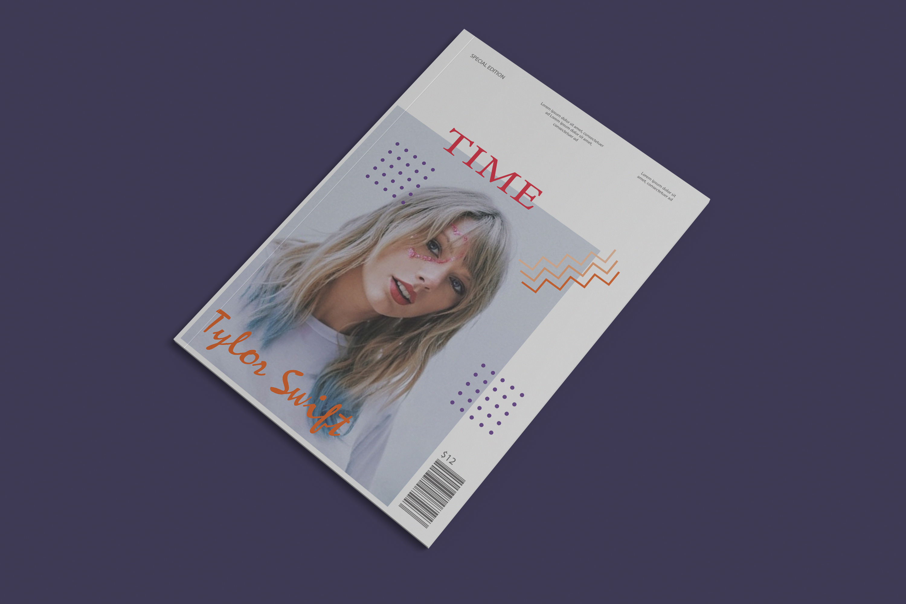 I will design an amazing magazine cover for you