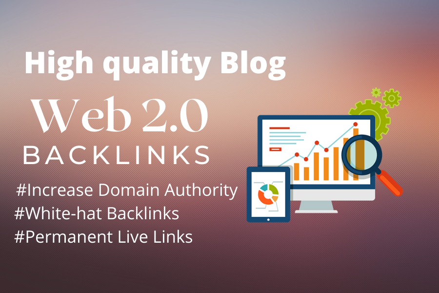 I will do web 2.0 unique manually backlinks for rank google 1 page