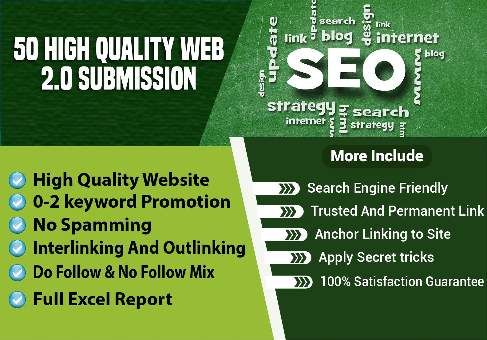 50 High Authority Web 2.0 Backlinks 2020