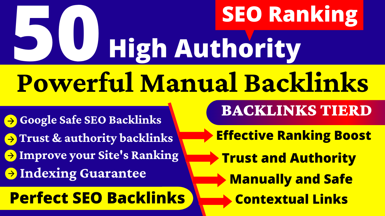 I will do Manually 50 Dofollow DA90+ PR9 SEO Profile Backlinks