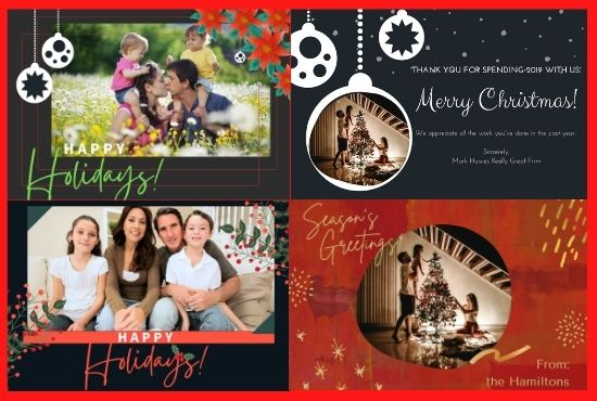 I will create amazing christmas cards and new year greetings cards