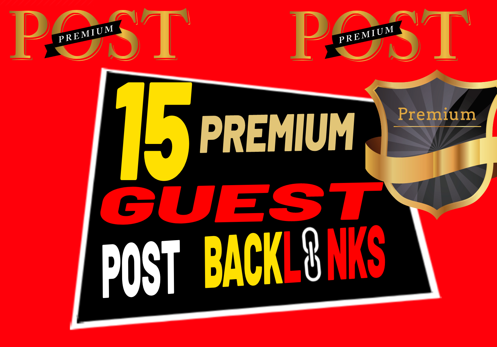 15 Premium High Quality Guest Post Backlinks or Link Building