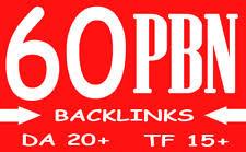 60 Homepage seo pbn backlinks da 20 plus