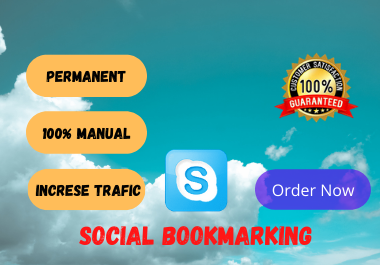 I will create 100 social bookmarking SEO backlink in high da sites manually