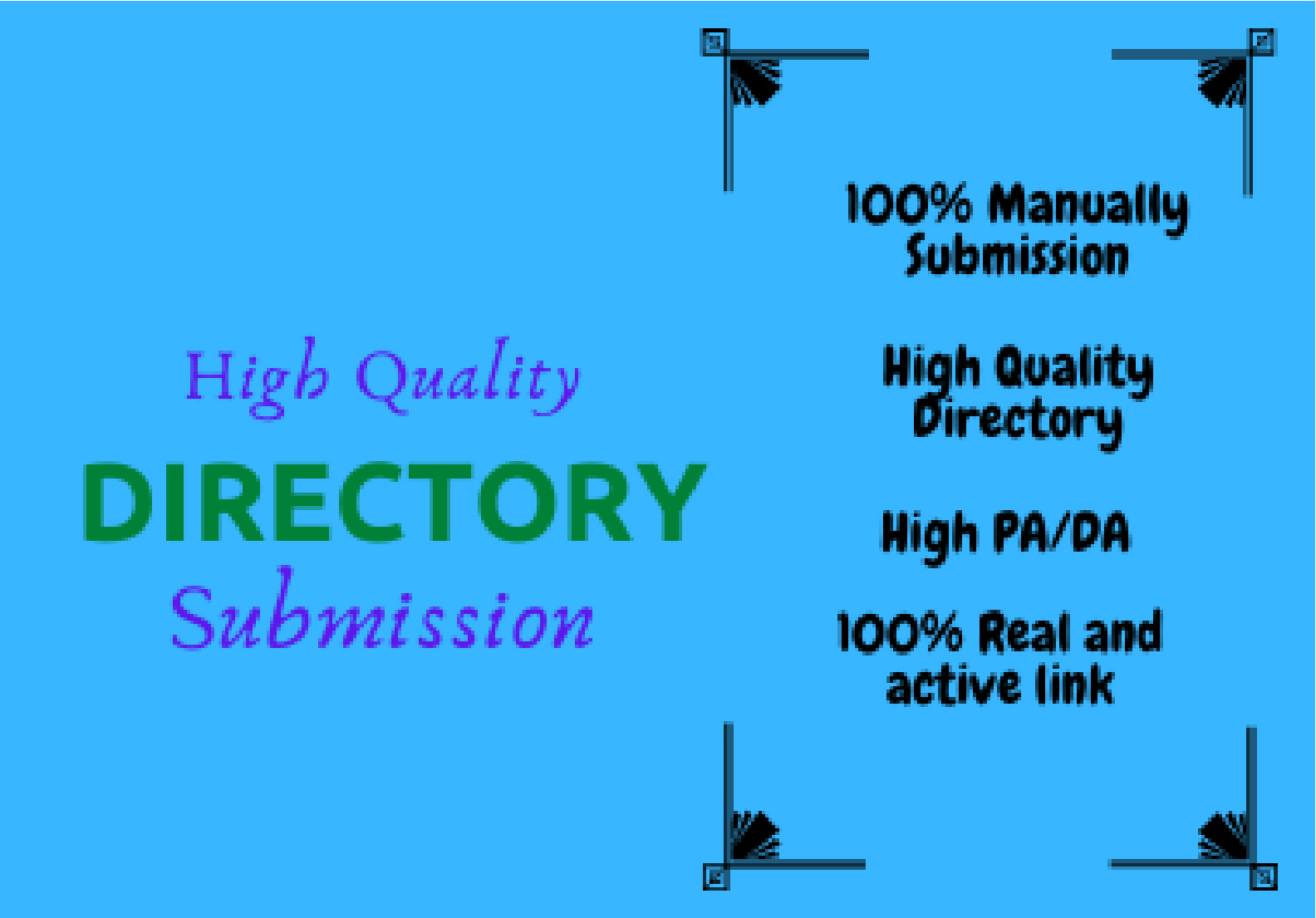 I Will Provide Manually 250 High Quality Directory Submission