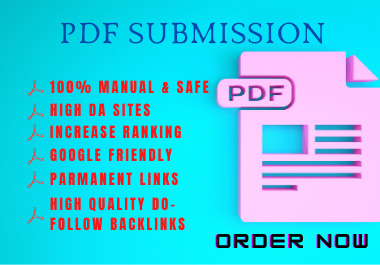 I will do 25 high quality PDF submission SEO Backlinks on Document Sharing Sites