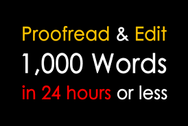 i can do proofreading,  editing and article writing