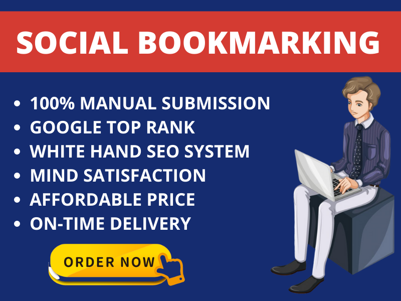 I Will Create 20 Social Bookmarking Backlinks Manually