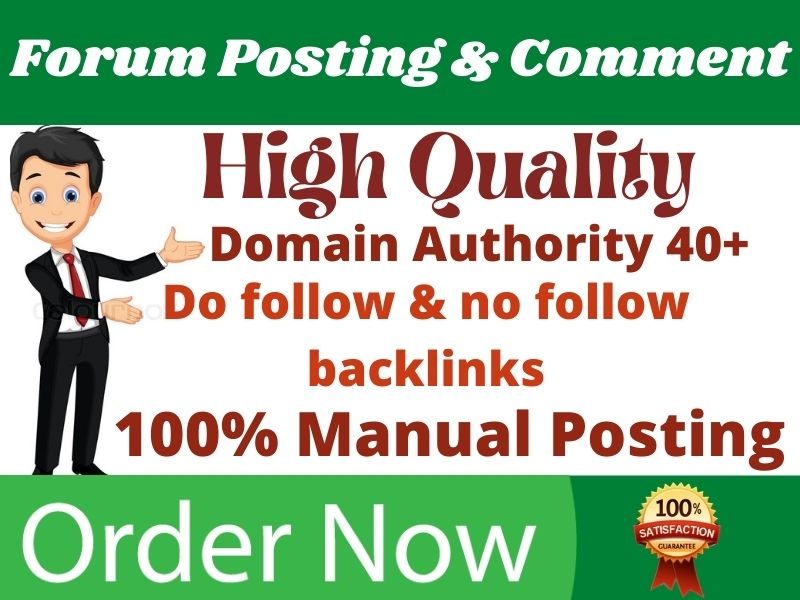 I will do 50+ high quality forum posting for SEO backlinks