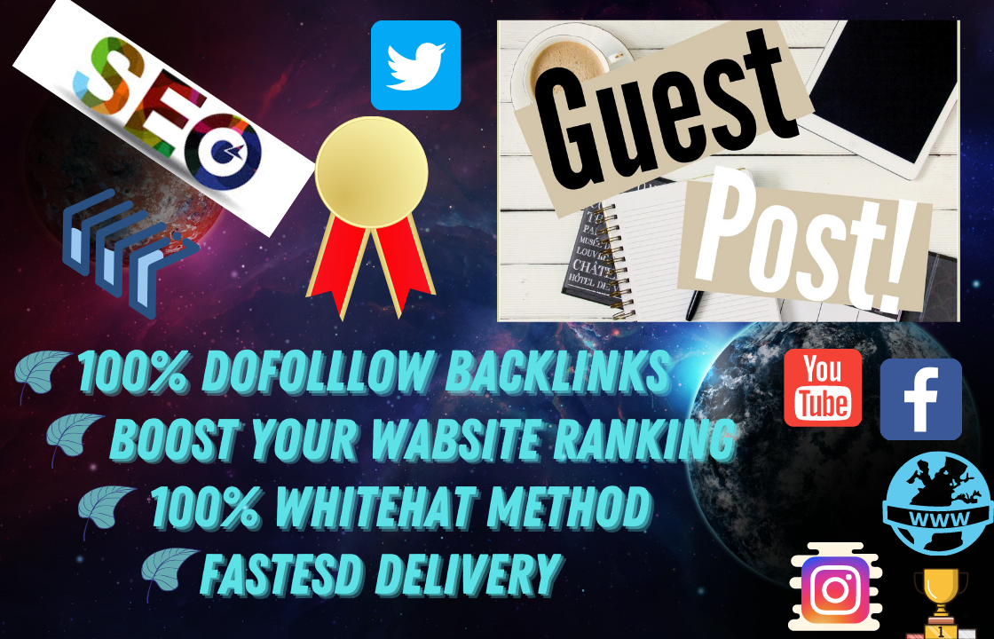 I will create and publish 5 high DA guest post on google site