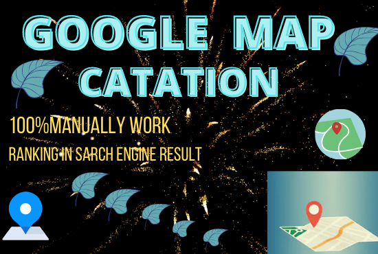 Build 200 map citation create manually to help rank your google business page boost local area