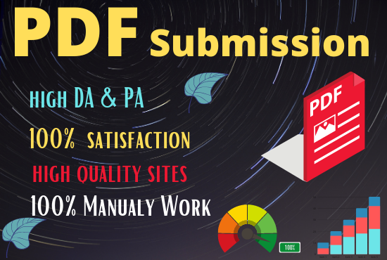 I Will create 20 Pdf Submission On High DA Site Permanent post help ranking on google No 1