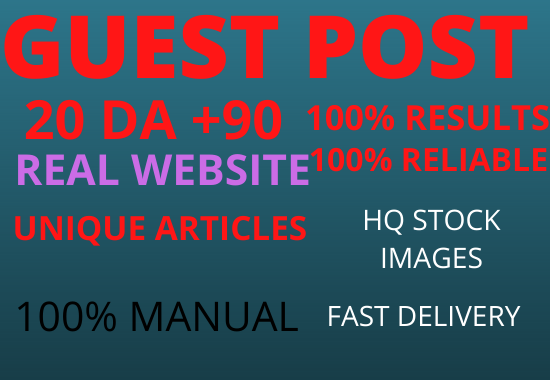 Write And Publish 3Guest Post On 3 Different Websites Da 90+ unique article