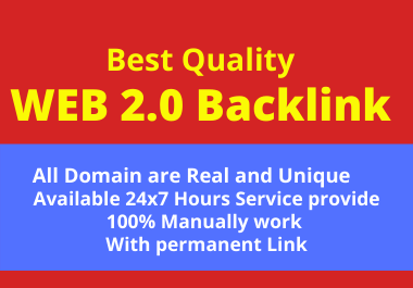 20 Web 2.0 High Quality Backlink Create in High Da SIte Permanently with help Rank your site