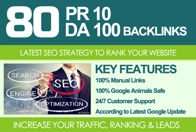 MANUALLY Do 80 UNIQUE PR10 SEO BackIinks on DA100 sites Plus Edu Links