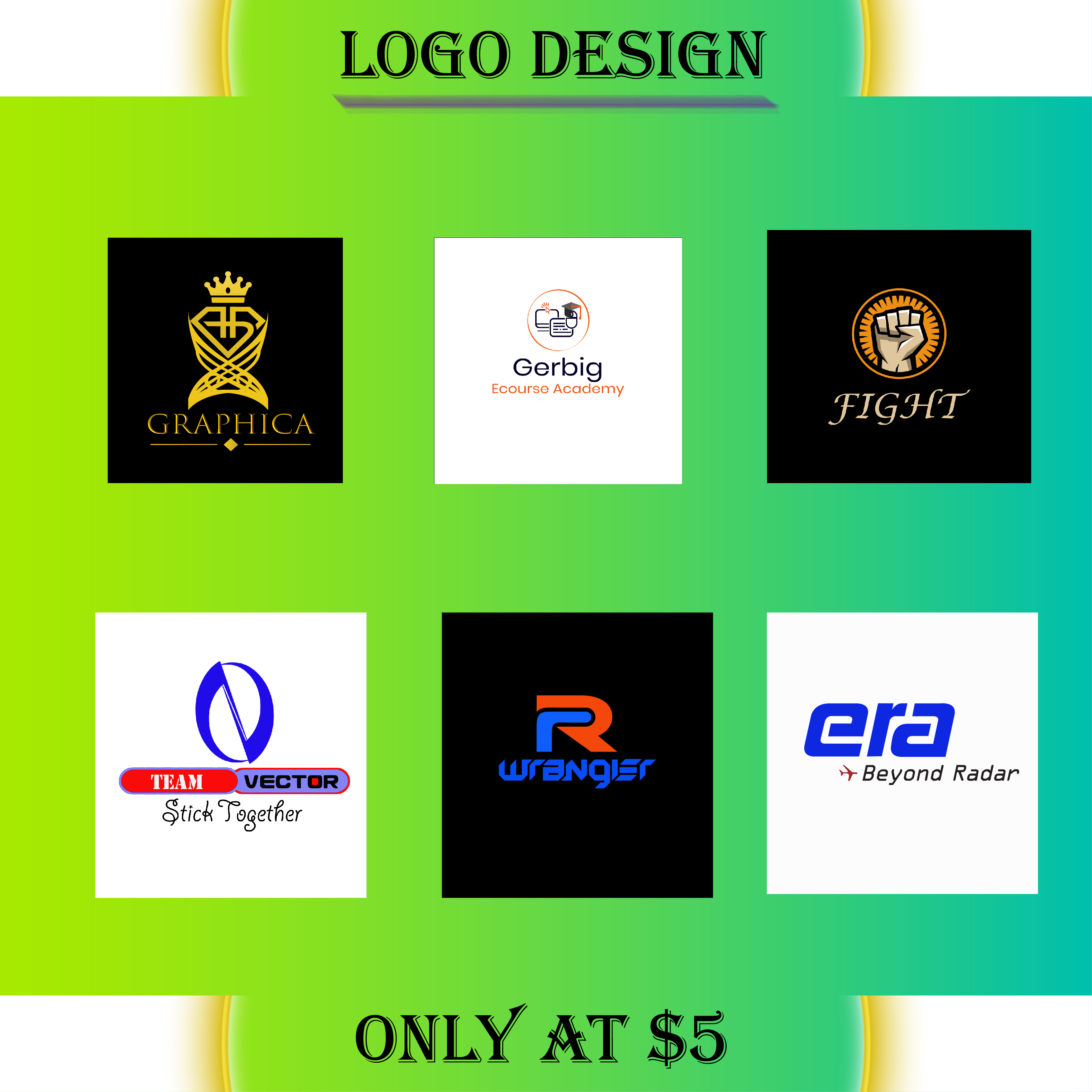 I will design a creative modern minimalist logo with copyright for your business