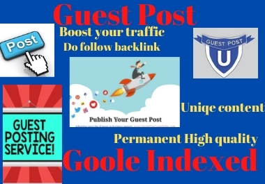 Write and Publish 10 Guest Post on high authority website permanent link building