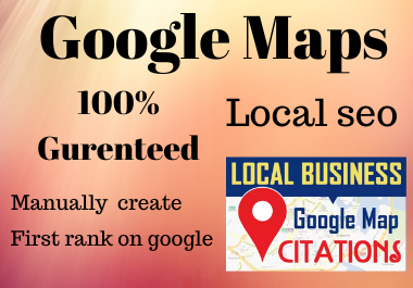 200 Google Maps citation for local seo for your google business local ranking