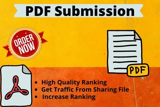Manual PDF submission & creation to 20 Document sharing sites for increase traffic