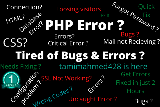 I Will Fix Wordpress PHP, DATABASE, Critical and any errors