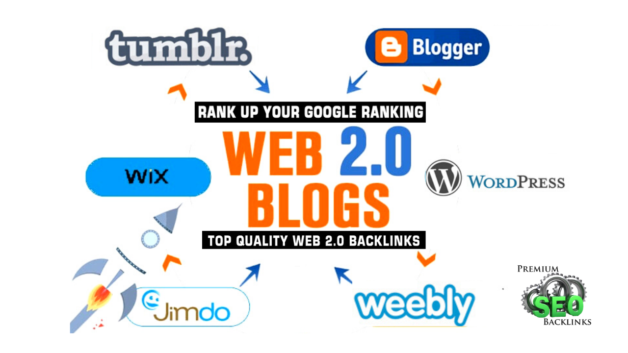 I will create web 2.0 using top High 25 Blog backlinks for Your Website Google Top Ranking