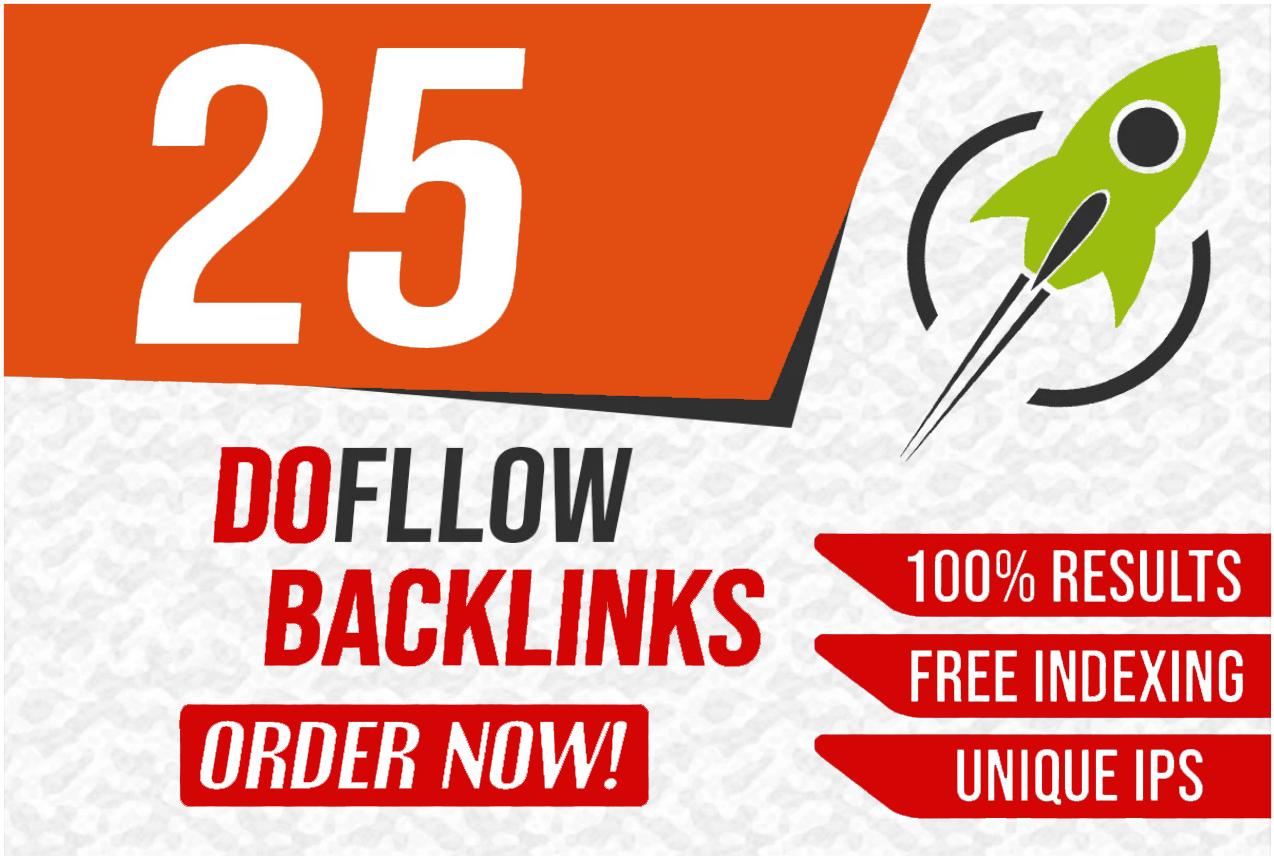 25 Permanent High Quality Dofollow Backlinks